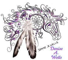 WOW!!!  Horse Dream tattoo design by Denise A. Wells by ♥Denise A. Wells♥, via Flickr