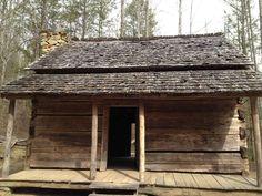 An old log cabin in Gatlinburg TN.