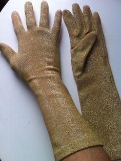 Vintage Gold Gloves  by BOBBLESnBLING on Etsy, $18.00