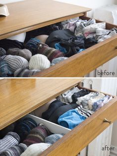 DIY drawer dividers - Whether your utensil drawer, the dreaded junk drawer, or your dresser, you can make custom organizers for just a few dollars.