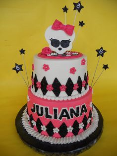 Monster High 8th Birthday cake by CakesUniqueByAmy.com, via Flickr