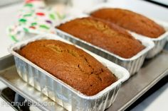 Best Ever pumpkin bread recipe: One batch serves up 3 loaves! 1 for eating now, 2 for the freezer. Or, share with friends!