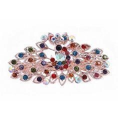 moda elmas kadınlar için tavuskuşu saç tokası renkli (renkli mor ve daha fazla) (1 adet) – USD $ 3.99