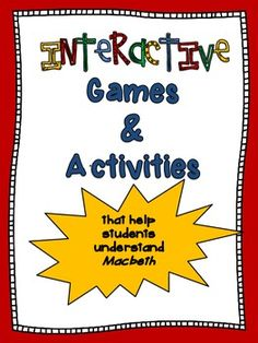 Macbeth Activities: interactive games that get students thinking
