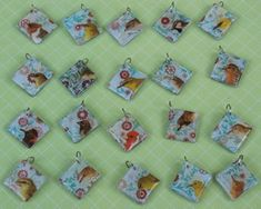 Resin and Shrink Plastic charms. Tutorial. Other fun tutorials on this page as well.