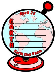 Have your students write an Earth Day acrostic poem inside globe shaped templates.