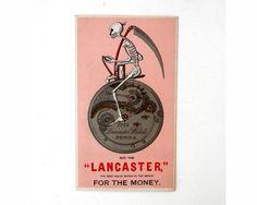 Victorian Trade Card  Death on a Bone Rattler by bigbangzero, $74.00