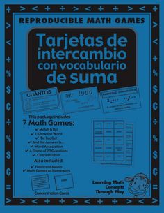 Great Math Game in Spanish! $