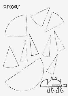 Dinosaur Paper Craft - Free Template