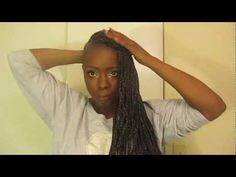 Box braids with shaved side !!How I Style Them!!
