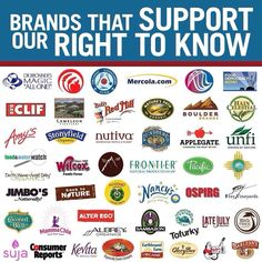 Brands That Support Our Right To Know