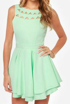 Cutout Mint Dress