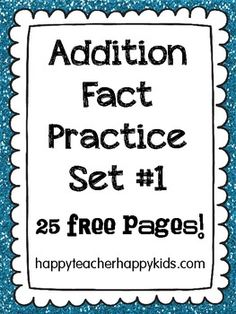 classroom, fact practic, addition facts, addit fact, grade, homeschool, review free, educ, practic review