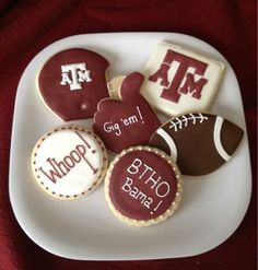 The Sugar Queen: Texas A&M Aggie Cookies!