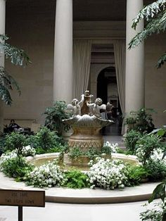 Samantha Croft's memorial gathering is held in the West Building of the National Gallery of Art in the East Garden Court. Jessie later returns to this peaceful refuge for reflection.