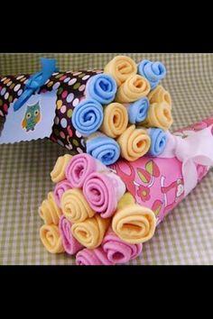 Baby shower gift idea - bouquet of onesies!