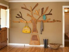 do it yourself wooden coat racks for modern interior decorating