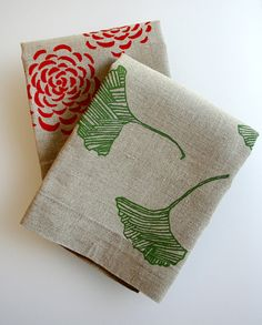 Tea Towels Flax Linen Choose any two by PonyAndPoppy on Etsy, $29.00