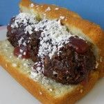 April fools day foods, cake that looks like a  meatball sub!    http://mylittleme.com/april-fools-day-food/