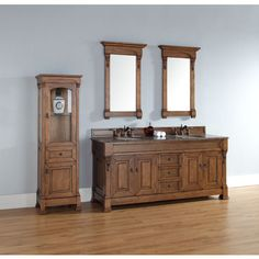 "James Martin 72"" Brookfield Double Bathroom Vanity, Solid Wood, Country Oak 147-114-5771"