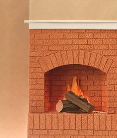 FIreplace made of paper by Matthew Sporzynski for Real Simple