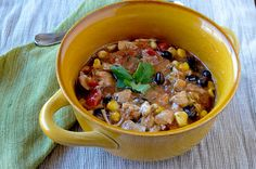Tex-Mex chicken stew (crockpot)