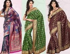 Sarees are considered as gorgeous outfits for women which emphasis on Indian tradition and give gorgeous look to women. A wide range of designer and stylish wedding sarees are available in the Indian markets. women outfit, banarsi sare, design sare, banarasi sare, big girl, sare indian, indian fashion, big fat, sare onlin
