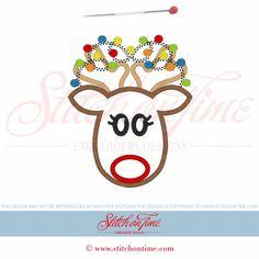 649 Christmas : Reindeer Applique 5x7