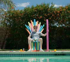 summer is coming pool noodle throne