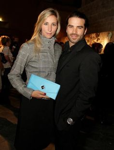 Countess Czernin von Chudenitz with Alejandro Nones.  Michelle is carrying Jill Milan's New Canaan clutch.