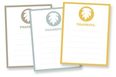 FREE DOWNLOAD | 3x4 Thankful Cards
