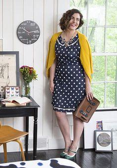 polka dots, polkadot, outing dress, back to school