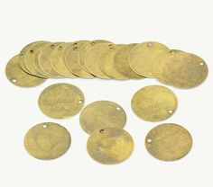 20 pcs. Antiqued Bronze Tone Metal Stamping Blanks by SmartParts