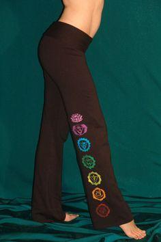 Black Chakra Homemade Yoga Pants