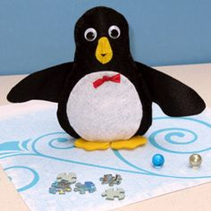 Wheezy the Bean Bag Penguin....made this for Jack & it came out really cute!