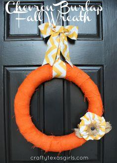 Crafty How-To: Chevron Fall Wreath #DIY #crafts