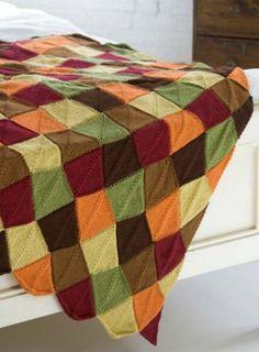 afghan free, leav afghan, pattern, fall leav, knit afghan, falling leaves