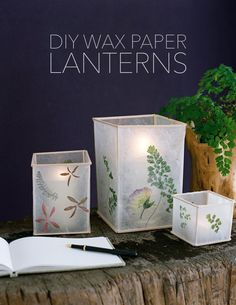 DIY Wedding Wax Paper Lanterns - oncewed.com