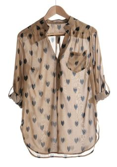 heart blouse. cute!