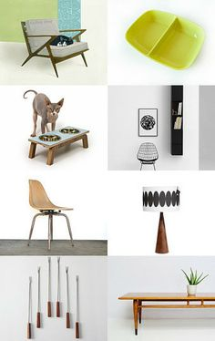 Mid Century home  by Yael Berger on Etsy--Pinned with TreasuryPin.com