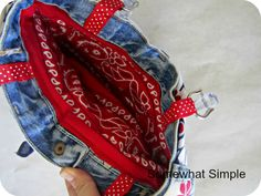 A purse made from a pair of jeans from @SomewhatSimple