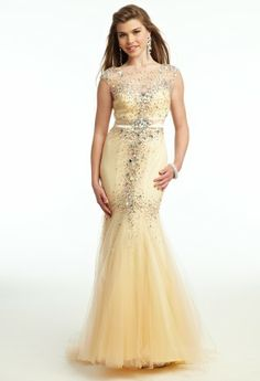 Mesh Illusion Prom Dress from Camille La Vie and Group USA