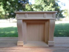 Dollhouse Miniatures Half Scale inch 1 24 Wooden Fireplace by Houseworks | eBay