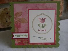 Hoop birthday by Lynnwoll - Cards and Paper Crafts at Splitcoaststampers