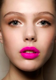 Hot pink lips