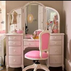 Makeup vanity for Lilly little girls, makeup vanities, pink rooms, vanity tables, office chairs, storage ideas, princess room, bedroom, girl rooms