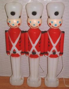 Vintage Christmas Blow Molds ~ Toy Soldiers by Carolina Enterprises