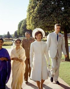 Jackie's goodwill tour of India, March 1962.