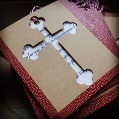 DIY Communion Card Favors