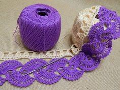 Orilla # 14 Abanicos dos colores Crochet parte 1 de 2 Video Tutorial - YouTube ✿⊱╮Teresa Restegui http://www.pinterest.com/teretegui/✿⊱╮